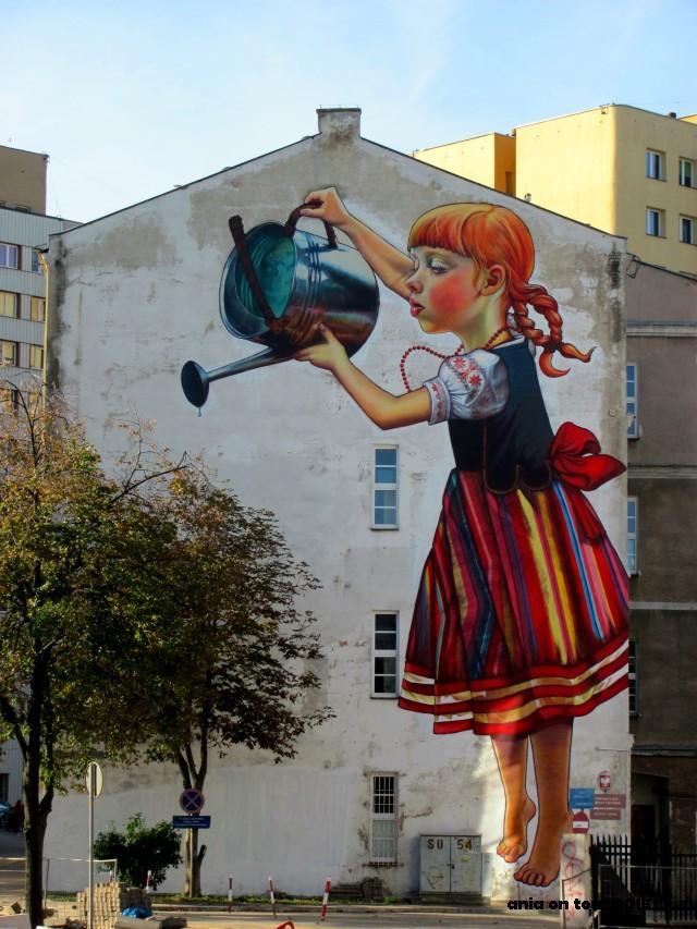 Muralowe szale stwo bia ystok wed ug ani for Mural bialystok dziewczynka z konewka
